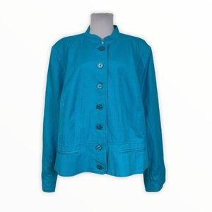 Jessica London NEW Suit Blazer Jacket Linen Blend